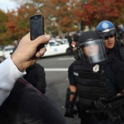 Phone video recording police