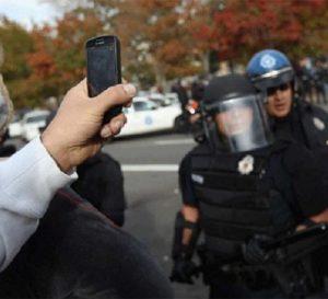 Phone video recording police